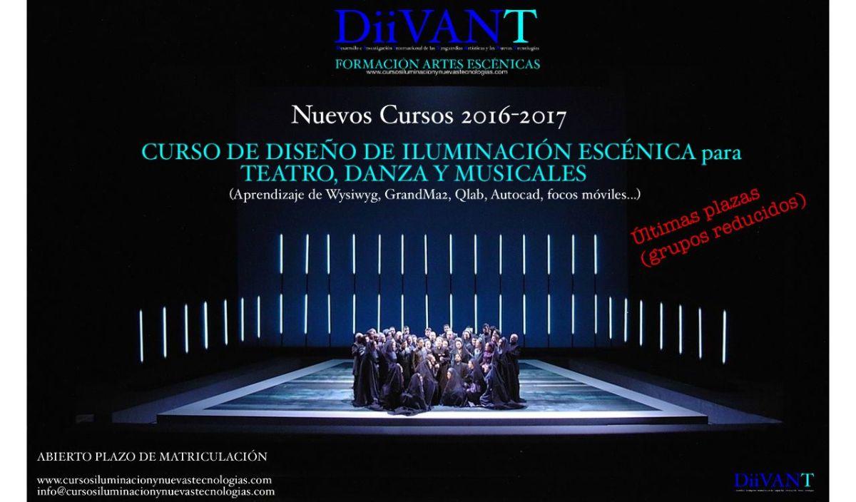 Cursos Diseño de Iluminación Escénica (Teatro, Danza y Musicales)