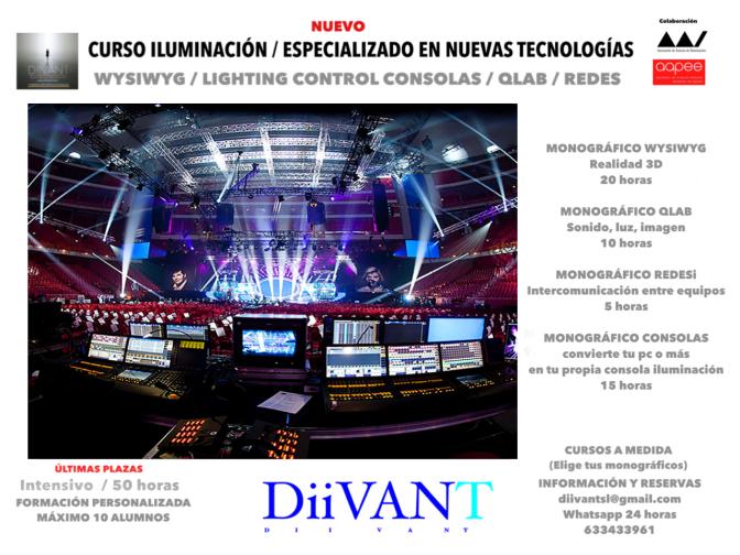 CURSO ILUMINACIÓN / ESPECIALIZADO EN NUEVAS TECNOLOGÍAS