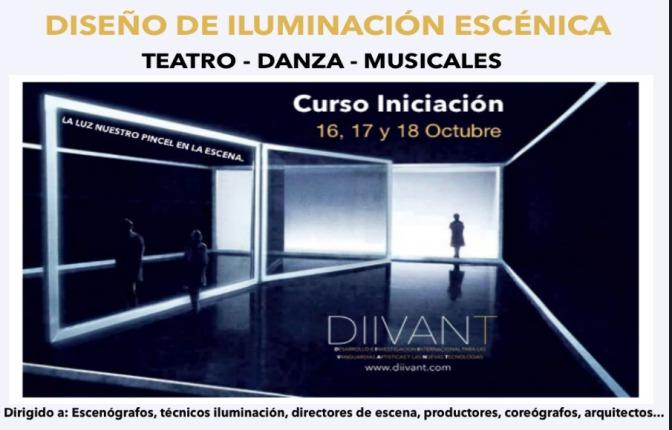 CURSO INICIACIÓN – DISEÑO DE ILUMINACIÓN ESCÉNICA PARA TEATRO,DANZA Y MUSICALES